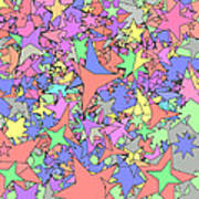 Pastel Stars Print by Gregory Scott