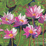 Pastel Water Lilies I  Art Print