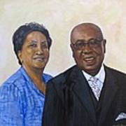 Pastor Donahue and Yvonne Green Art Print