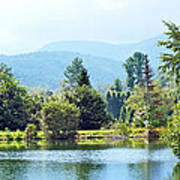 Pastoral Pond And Valley Art Print