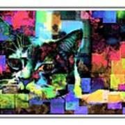 Patchwork Kitty Art Print