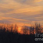 Patchwork Sunset Art Print