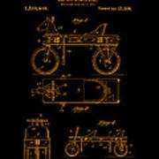 Patent Art 1920 Herzog Hobby Horse Gold Art Print