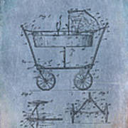 Patent Art Baby Carriage 1922 Mahr Denim Art Print