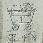 Patent Art Mahr Baby Carriage 1922 Green Art Print