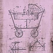 Patent Art Mahr Baby Carriage 1922 Pink Art Print