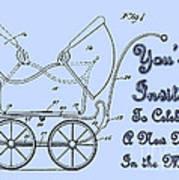 Patent Art Robinson Baby Carriage Invite-blue Art Print