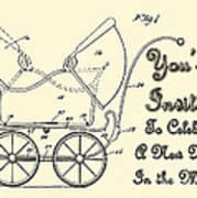 Patent Art Robinson Baby Carriage Invite Yellow Art Print