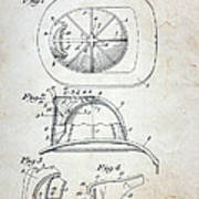 Patent - Fire Helmet Art Print