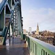 Path On Tyne Bridge Art Print