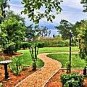 Garden Path To Wild Marsh Art Print