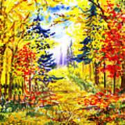 Path To The Fall Art Print