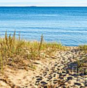 Path To The Lake Superior Beach Art Print