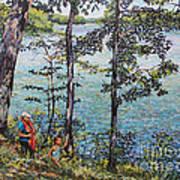 Path To The Lake Art Print