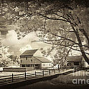 Path To The Old Barn Art Print