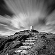 Path To Twr Mawr Lighthouse Art Print by Dave Bowman