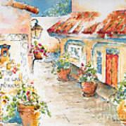 Patio De Las Campanas  Art Print