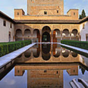 Patio De Los Arrayanes La Alhambra Art Print