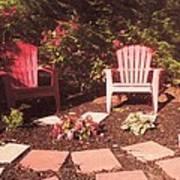 Patio Garden Art Print
