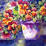 Patio Pansies Art Print