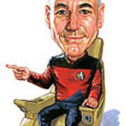 Patrick Stewart As Jean-luc Picard Art Print
