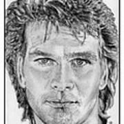 Patrick Swayze In 1989 Art Print