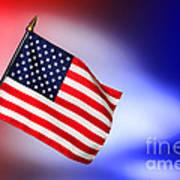 Patriotic American Flag Art Print
