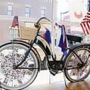 Patriotic Bicycle Art Print