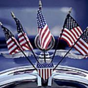 Patriotic Car Art Print