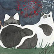 Patriotic Cats Art Print