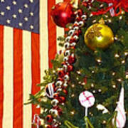 Patriotic Christmas Art Print