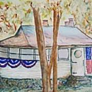 Patriotic Cottage Art Print