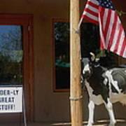 Patriotic Cow Cave Creek Arizona 2004 Art Print
