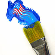 Patriotic Paint Print by Diane Diederich