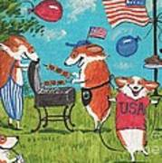 Patriotic Pups Art Print