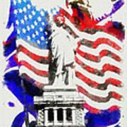 Patriotic Symbolism Art Print