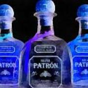 Patron Tequila Black Light Art Print