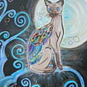 Patronus Cat Art Print