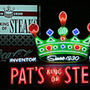 Pat's King Of Steaks Art Print
