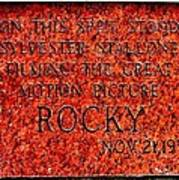 Pats Steaks - Rocky Plaque Art Print by Benjamin Yeager