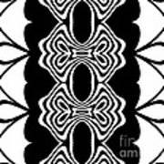 Pattern Black White Abstract Art No.293. Art Print