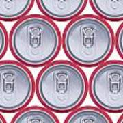 Pattern Drink Cans Art Print