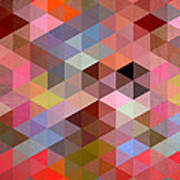 Pattern Of Triangle Art Print
