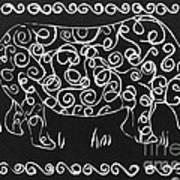 Patterned Rhino Art Print