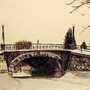 Patterson Creek Bridge In Winter Art Print