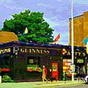 Patty's Pub Guinness On The Glebe Restaurant Bar Bank And Ossington Paintings Of Ottawa Art Cspandau Art Print