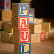 Paul - Alphabet Blocks Art Print