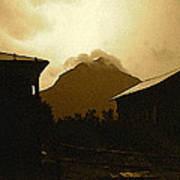 Paul Cezanne Homage Golden Gate Peak Old Tucson 1967-2009 Art Print
