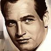 Paul Newman Artwork 1 Art Print