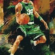 Paul Pierce Print by Christiaan Bekker